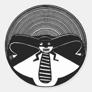Mimbres Anthropomorphic Animal Classic Round Sticker