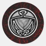 'Mimbres Eagle tribal Etiquetas Redondas