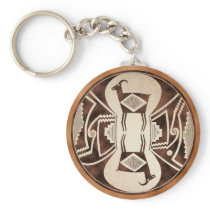 Mimbres Mirrored Sheep Keychain