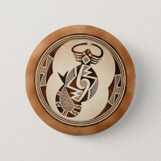Mimbres Scorpion-Snake-Fish Pinback Button