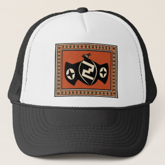 Mimbres Tribal Bat Trucker Hat