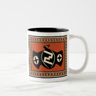 Mimbres Tribal Bat Two-Tone Coffee Mug