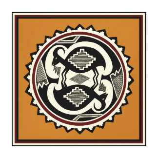 Mimbres Tribal Mt. Goats Canvas Print