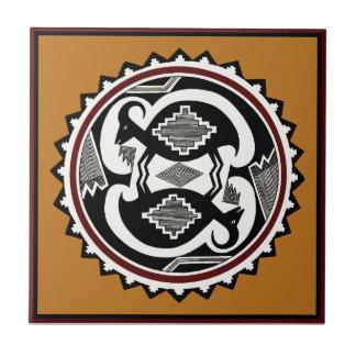 Mimbres Tribal Spirits Ceramic Tile