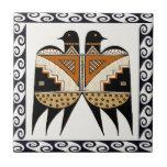 Mimbres Twin Birds Ceramic Tile