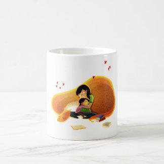 """Mime a la lectura de la hija - """"cuando leo """" taza de café"""