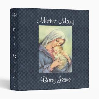 Mime al rezo de Jesús del bebé de Maria/al Carpeta 2,5 Cm