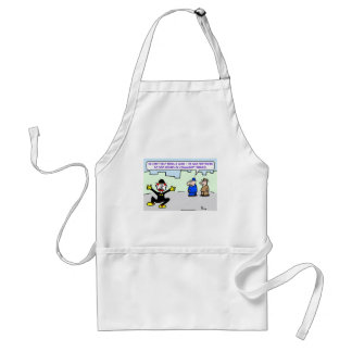 mime community service adult apron
