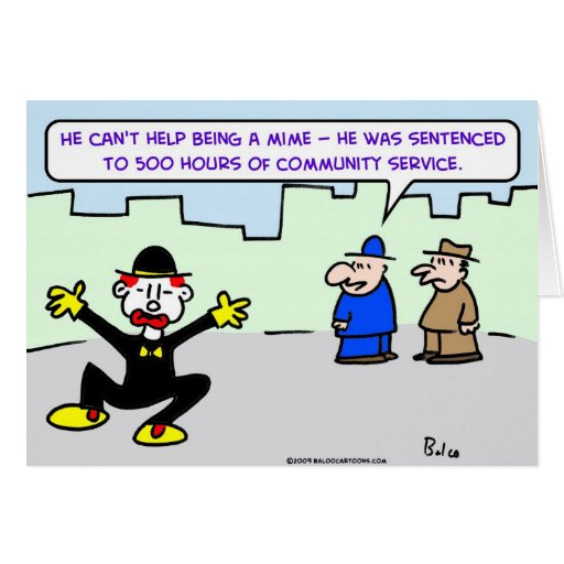 mime community service greeting card