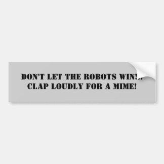 Mime de la pegatina para el parachoques #5 del Ant Pegatina Para Auto