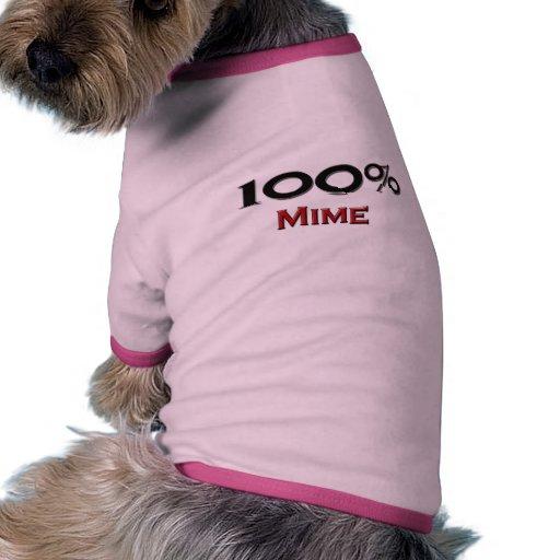 Mime del 100 por ciento ropa de perro