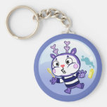 Mime in a Bubble Basic Round Button Keychain