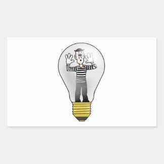 Mime Light Rectangular Sticker