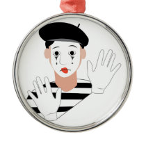Mime Metal Ornament