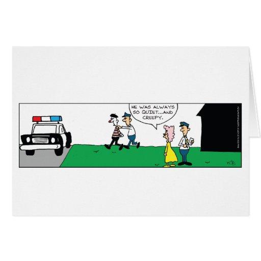 Mime Neighbor Greeting Card