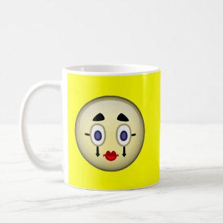 Mime pálido taza de café