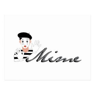 Mime Postcard