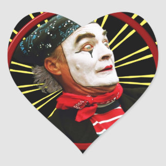 Mime Scared 2 Heart Sticker