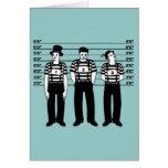 Mimes criminales tarjeta de felicitación