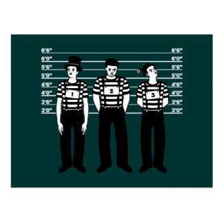 Mimes criminales tarjeta postal