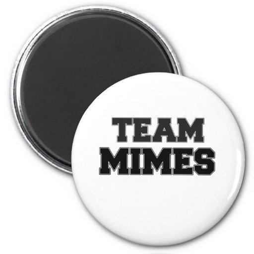 Mimes del equipo imanes