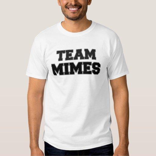 Mimes del equipo playera