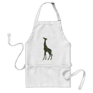 mimetic military giraffe adult apron