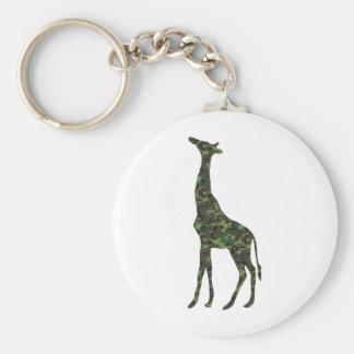 mimetic military giraffe keychain