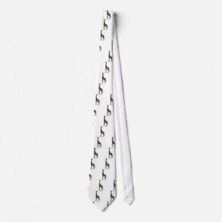 mimetic military giraffe neck tie
