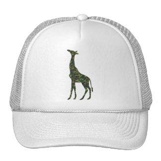 mimetic military giraffe trucker hat