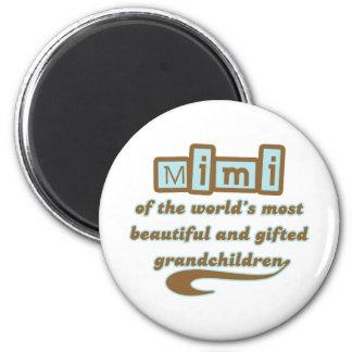 Mimi de nietos dotados imán redondo 5 cm