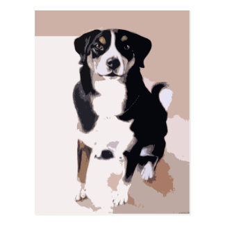 mimi dog cartoon postcard