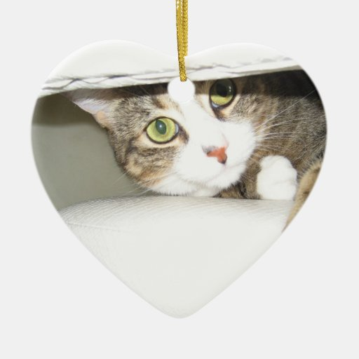 Mimi Double-Sided Heart Ceramic Christmas Ornament