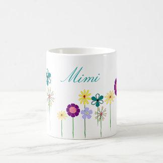 Mimi - flores brillantes para ella taza