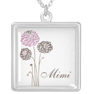 Mimi flores elegantes de la dalia del collar