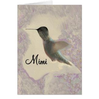 Mimi Hummingbird Greeting Card