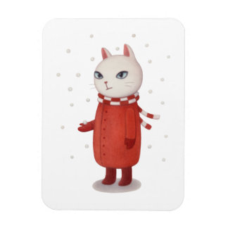 Mimi is Not a Fan of Snow Rectangular Photo Magnet