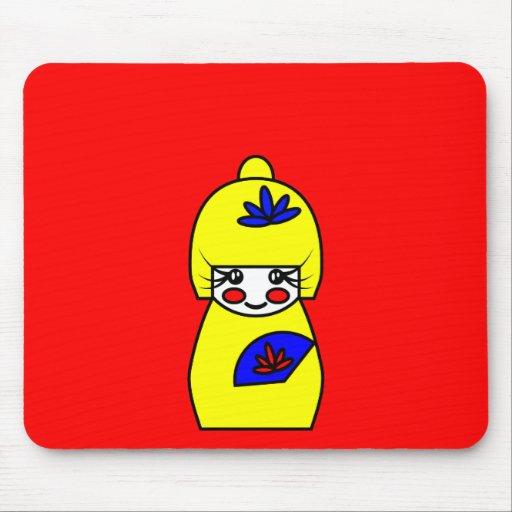 Mimi (Kokeshi Doll) Mouse Mat Mouse Pad