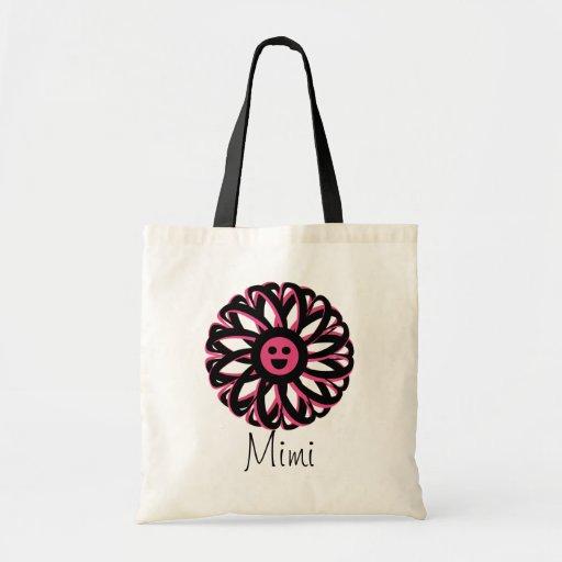 Mimi la bolsa de asas bonita de la flor