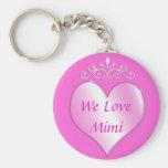 Mimi los regalos de la abuela amamos Mimi Llavero Redondo Tipo Pin