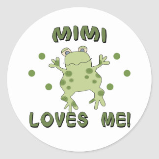 Mimi Loves Me Frog Classic Round Sticker