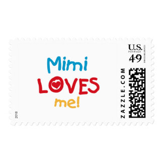 Mimi Loves Me T-shirts and Gifts Stamps