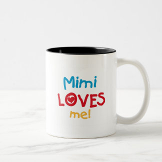 Mimi Loves Me T-shirts and Gifts Two-Tone Coffee Mug
