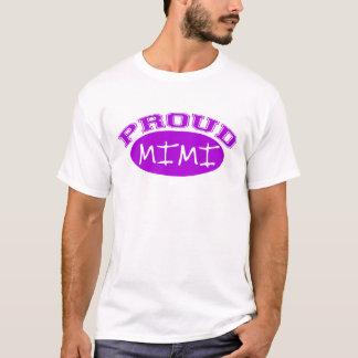 Mimi orgulloso (púrpura) playera