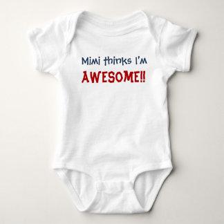 Mimi Thinks I'm Awesome! Baby Infant Bodysuit