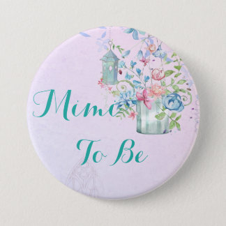 Mimi to be Floral Cottage Baby Shower Button