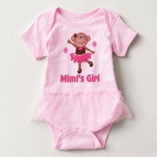 Mimi's Girl Grandchild Monkey Ballerina Tutu Tee