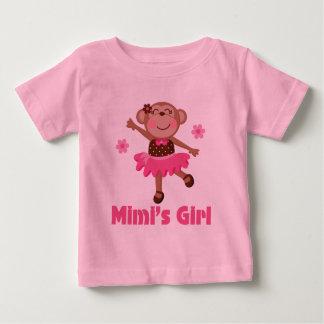 Mimis Girl Monkey Baby T-Shirt