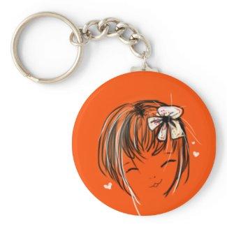 mimiyoya girl:: Happy keychain keychain