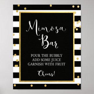 Mimosa Bar Black & Gold Sign